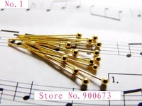 Free shipping 0.5 x 30MM Ball Pins, Copper Plated Gold, Round Head Pins Jewelry Findings. Nickel And Lead Free!