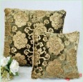 Free shipping 3 pcs/lot 42*42cm cushion cover  high quality dark green velvet  gold printing