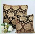 Free shipping 3 pcs/lot 42*42cm cushion cover high quality brown velvet gold printing