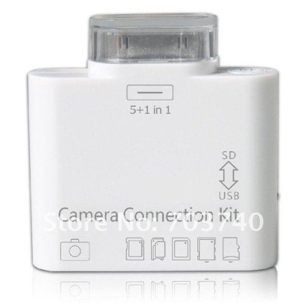 Кардридер 50pcs/lot 5 1 USB SD/TF iPad IPC-002 легко пользоваться школа эз складочном np100 wifi sd кардридер специальный считыватель