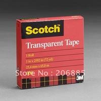 3M 600 scotch High performance transparent film tape 25.4MM*66M/10rolls/lot