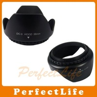 New 58MM Flower Camera Lens Hood For Digital Camera Lens 50pcs/lot A07DBZZ057