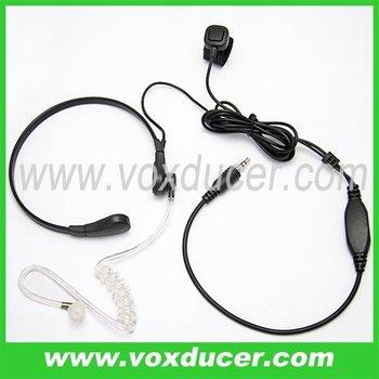 Interphone accessories finger PTT throat vibration headphone for Motorola Visar transceiver