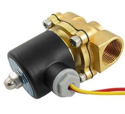 "Free Shipping 5PCS 1"" Brass Solenoid Valve 12V Normally Closed Water, Diesel 2W250-25 EPDM(China (Mainland))"
