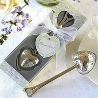 Tea Time Heart Tea Infuser  Wedding Favors+100sets/Lot+Free Shipping(RWF-0012P)