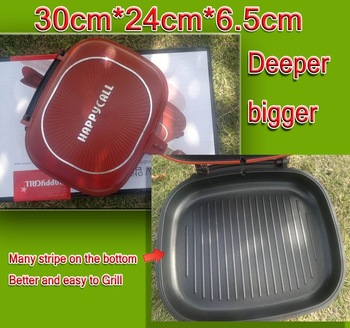 Free Shipping 10pcs/lot Happy Call,Happycall,Fry pan,Non-stick pan,Double Side Grill Fry Pan Well Sold to Singapore Maylaysia