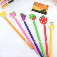 Free Shipping, 6 styles Wooden fruit Pencil, Creative pencil,Cartoon Pencil,Fashion Pencil, 60pcs/lot
