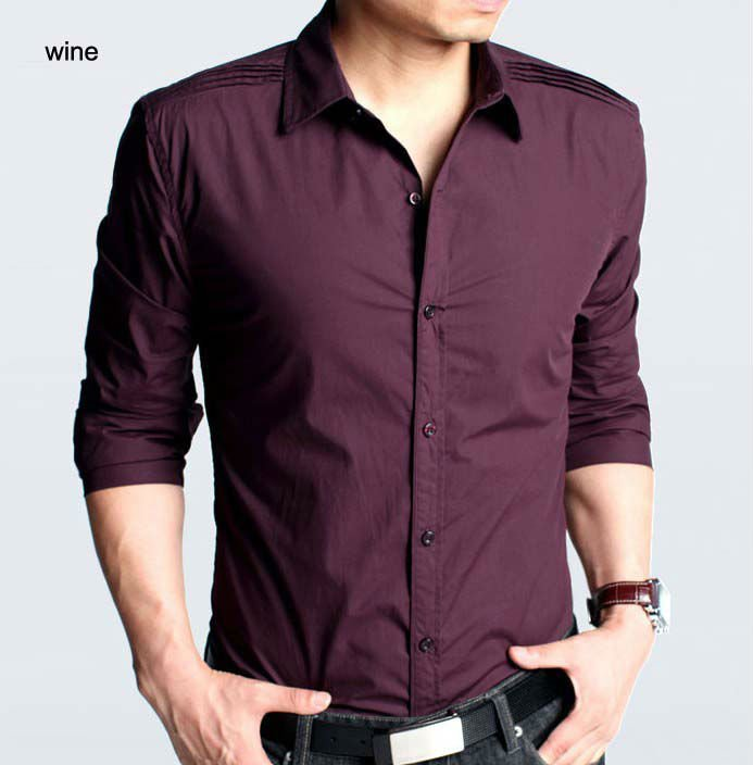 Manckstore worldwide free shipping for dresses gadgets for Wine colored mens dress shirts