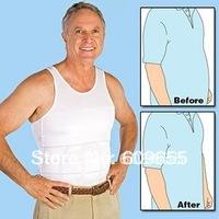20pcs/lot For Men Beer Belly  Color White Slim N lift Slimming Silhouette Supreme Shirt  Undershirt BodyShaper Vest  Body Shaper