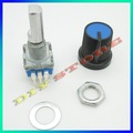 Wholesale 10pcs/lot 12mm Rotary Encoder Switch W. Keyswitch HQ with potentiometer knobs+free shipping-1000043