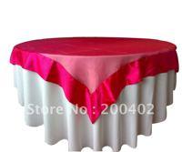 sell hot pink organza overlay with satin edge/organza overlay