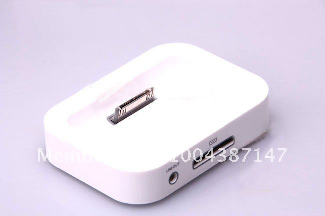 10pcs/lot Dock Cradle Sync Charger Station for Apple IPHONE 4 3GS more items better price in 2012 fast shipping(China (Mainland))