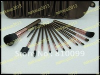 Кисти для макияжа 2012 new 32 pieces makeup brushes set with number, Leather bag! makeup2013