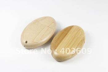 Oval-Shaped USB Disk 2GB 4GB 8GB 16GB 32GB 64GB Wooden Flash Drive