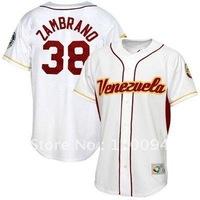Majestic Venezuela #38 Carlos Zambrano 2009 World Baseball Classic White Player Jersey,usa baseball jersey sale