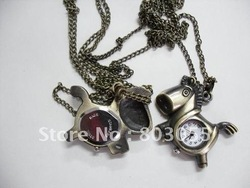 Model 28 RetroStyle pocket watch Fob watch horse pocket watch with chain 55pcs/lot+Free shipping(China (Mainland))