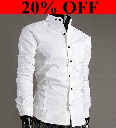Mens White Dress Shirts on Men S Shirts Cotton Shirts Casual Slim Fit Stylish Dress Shirts Men