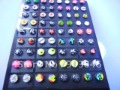 LOT 108pairs Free Shippment  Stainless Steel Body jewelry -Logos Ear Studs Earring  HOT SELLING
