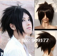 Natural Kanekalon costum Hair Wigs  hair no lace  deliver**********Death Note Short black Naruto Uchiha Sasuke cosplay wig