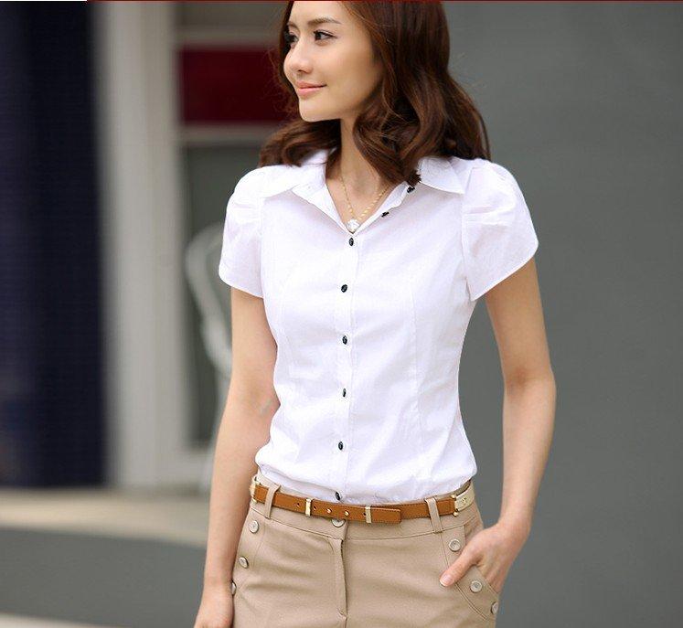 Elegant Women Blouses Tops Fashion Floral Embroidery White Blouse Shirt Women