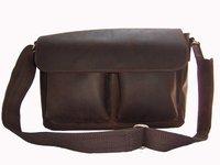 FREE Ship-Wholesale Price Hottest Men's Full Grain Real Leather Brown Messenger Bag Shoulder Bag Briefcase M027#