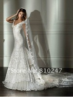 2012 boutique luxury atmosphere lace materials lace beaded artisan trailing wedding sling wedding