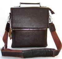 FREE Ship-Wholesale Men's 100% Genuine Leather Brown Password lock Shoulder Bag Messenger Briefcase Leisure Bag M023#
