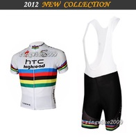 Free Shipping!! MEN'S SUMMER CYCLING JERSEY+BIB SHORTS 2012 -TEAM-white-SZ: xS-4XL& Wholesale/Retail