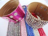 Wholesale 50pcs 8.9 inch length / 2.1 inch wide Mix Color PU leather Bracelet Wristband