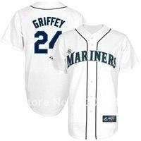 Majestic Ken Griffey Jr. Seattle Mariners Jersey- White,usa baseball jersey
