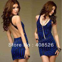 2013 New Women's Super Sexy Design at Waist Strapless Stretchy Mini Dress free shopping 3570