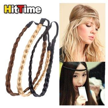 New Pretty Girl Plait Braided Hair Head Band Plaited  #3966