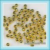 2000pcs/lot 3.2mm Gold Plated round ball metal spacer beads P75
