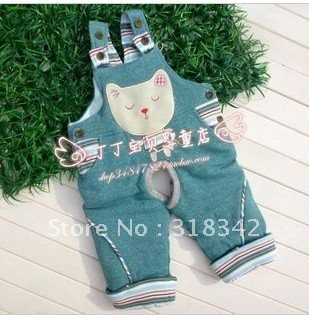 Children's clothing thickening cowboy open files BeiDaiKu 6 M-three years old