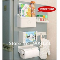 Multi-purpose Strong Magnetic Refrigerator Shelf Hook Shelving Paper Towel Holder Rack Seasoning Bottle Rack Towel