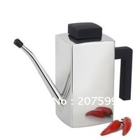 Free shipping retail 1 piece stainless steel cruet, water jug, gravy boat, edible oil bottle with Germany quality, Size: M