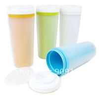 360ML Double Layer Cover Cups Elegance Design Keep Excellent Heat Resistant Property Sending Random Color