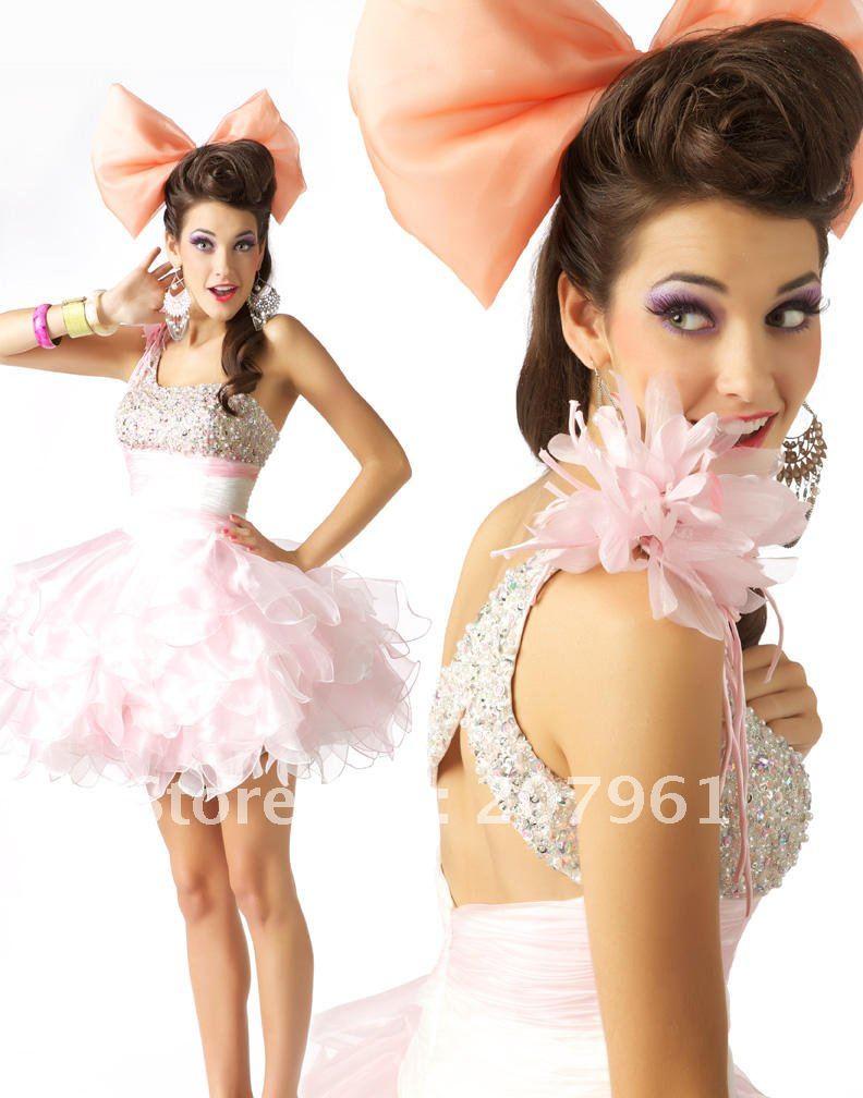 Платье бэби долл прически