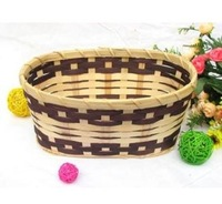 Round Rattan woven wicker willow home storage boxes bins food container organizer case baskets decoration