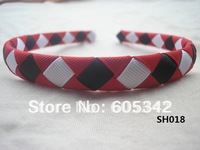 2012 NEW!! 1/2 inch 100  Pcs/Lot U Pickup Red/Black/White Woven Ribbon Headbands  Girls Baby Infant + EMS  Free Shipping