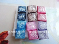 Wholesale 30 Pairs Plastic Square Stud Earrings Cute Earrings Mix Color Lovely & Fashion Jewelry Free Shipping