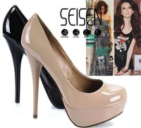 New arrival fashion Vogue Platform Pumps Sexy Stiletto High Heels shoes round toe Lady Shoes+freeshipping