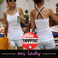 woman sexy tops girl tank tops fashion style lady tank shirt free shipping HK airmail