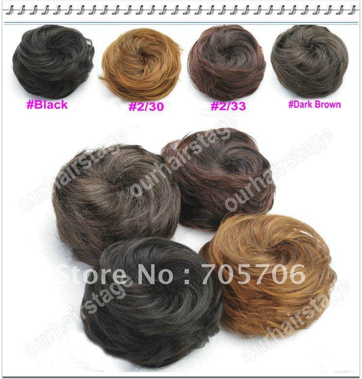 Free Shipping Fashion Hair Bun Chignon Extensions Hairpiece Wig Wedding Bun