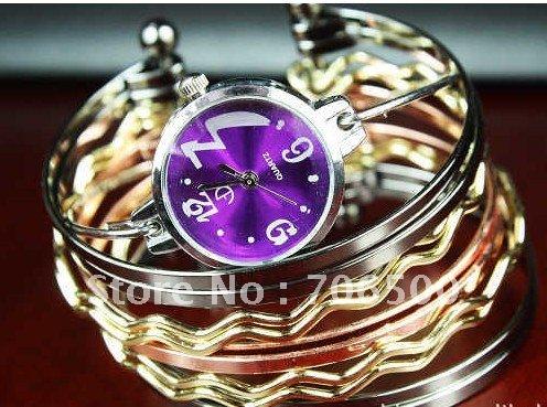 Promotion hot style wholesale Jewelry Bangle bracelet wrist fashion Women s watch Ladies