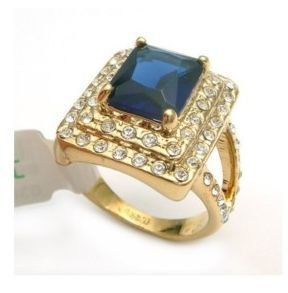 New fashion Hot Beautiful Jewellery Natural blue zircon crystal CZ designer ring rings size:6,7,8,9,10,free shipping