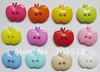 NB0105 garment buttons 500pcs Apple shape 16mm*14mm nylon material 2-holes craft button available to choose
