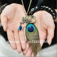 peacock feathers full diamond necklace Necklace