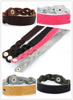 leather cuff bracelets women wide leather bracelet fashion design gift handmade personalized leather bracelets  free shipping