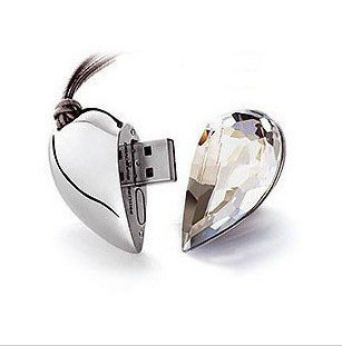 Free Shipping Jewellery Heart  4gb 8gb 16gb  Real Memory Usb Drive Valentine Day's Gifts ,best gift for lover's